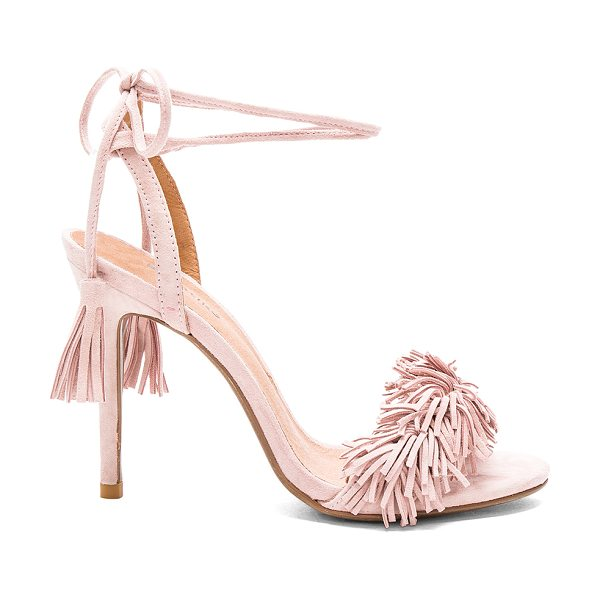 Matiko Daphne heel in blush - Suede upper with man made sole. Ankle wrap tie closure....