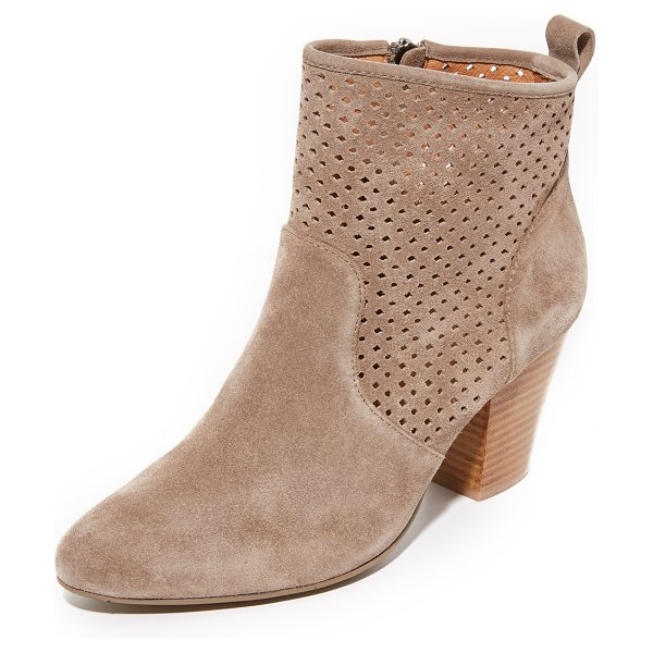 MATIKO marlin booties - Perforated geometric detailing accents the shaft of...