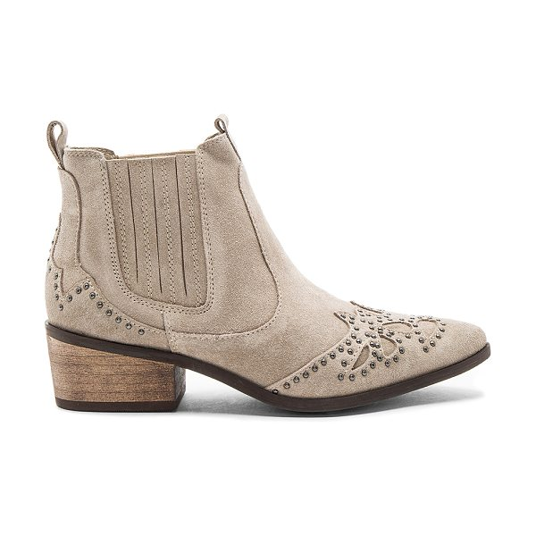 MATISSE Backstage Booties - Suede upper with rubber sole. Elasticized pull on...