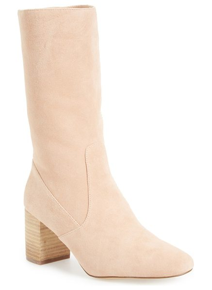 MATISSE babe mid-calf boot in natural suede - This essential boot is crafted from soft, unadorned...