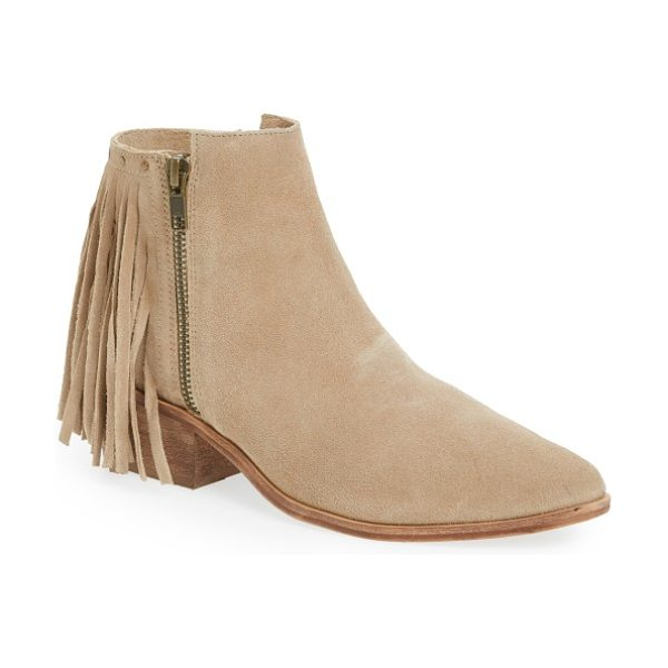 Matisse coconuts by  billy studded fringe bootie in natural suede - Rounded studs and a curtain of fringe enliven the back...