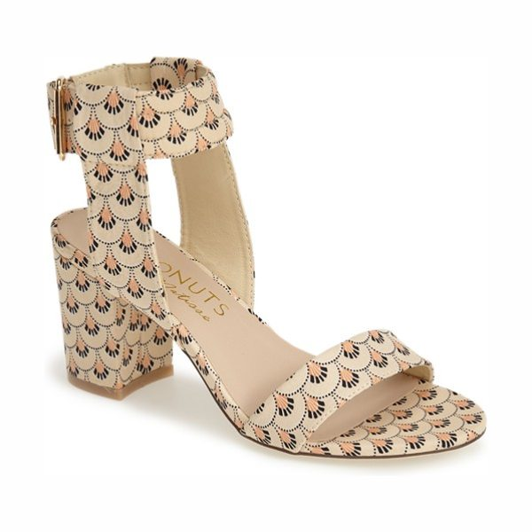 Matisse Coconuts by  lupe ankle strap sandal in natural - Pretty print fabric livens up a breezy ankle-strap...