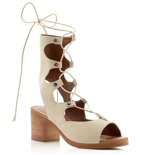 Matisse Expo Lace Up Mid Heel Sandals in natural - Matisse Expo Lace Up Mid Heel Sandals-Shoes