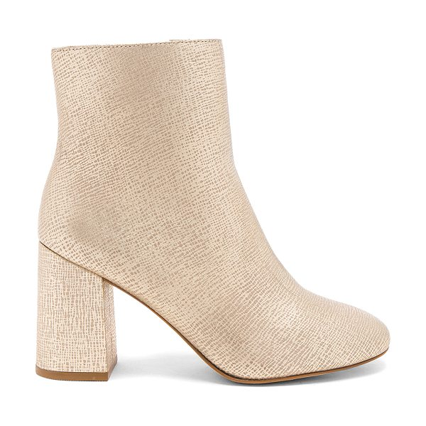 "Matisse Grove Bootie in metallic gold - ""Embossed metallic leather upper with man made sole...."