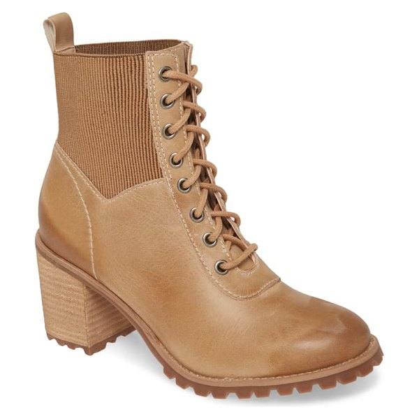 Matisse moss lace-up boot in brown