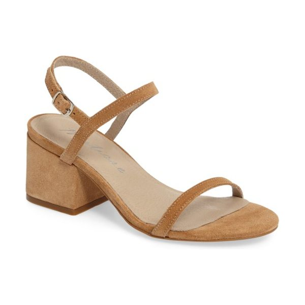 Matisse stella block heel sandal in natural suede - A squared block heel gives trend-friendly lift to a...