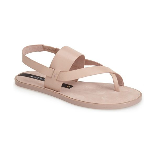 Matt Bernson athena leather thong sandal in blush