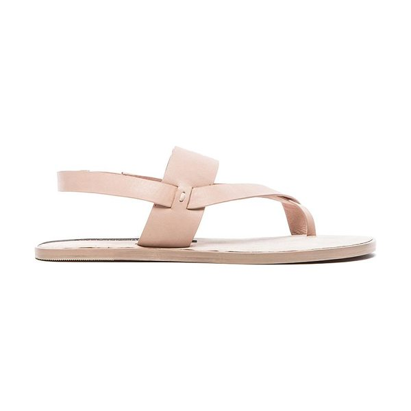 Matt Bernson Athena sandal in blush - Leather upper and sole. Elastic heel strap. MBER-WZ113....