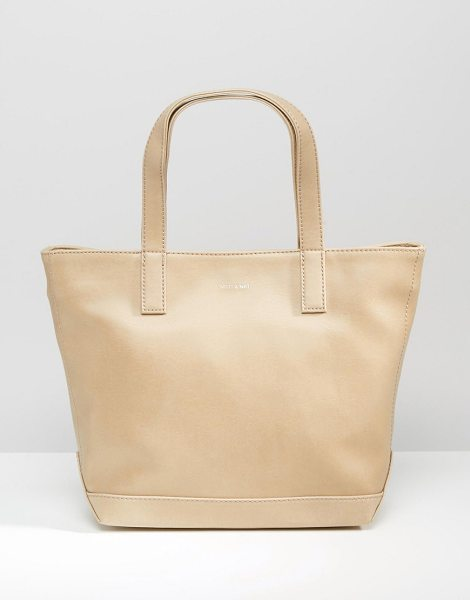 Matt & Nat Matt & Nat Shopper Bag in beige - Cart by Matt Nat, Vegan leather outer, Recycled plastic...