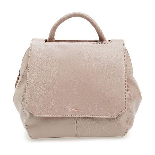Matt & Nat Wellington faux leather satchel in champagne - Subtly textured faux leather adds everyday refinement to...