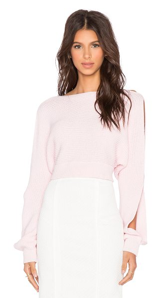 Maurie & Eve Farrow sweater in pink - Cotton blend. Dry clean only. Open shoulders. MAUR-WK6....