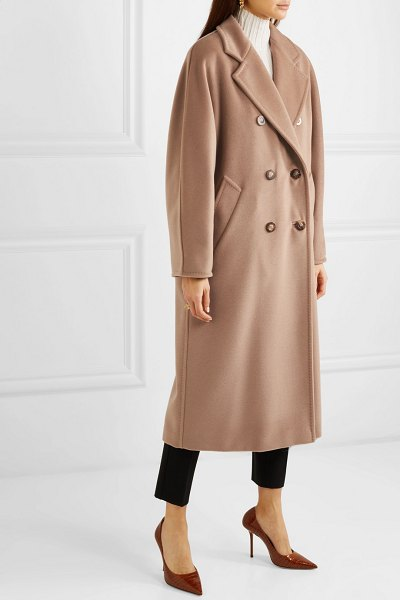 Max Mara 101801 icon double-breasted wool and cashmere-blend coat in camel
