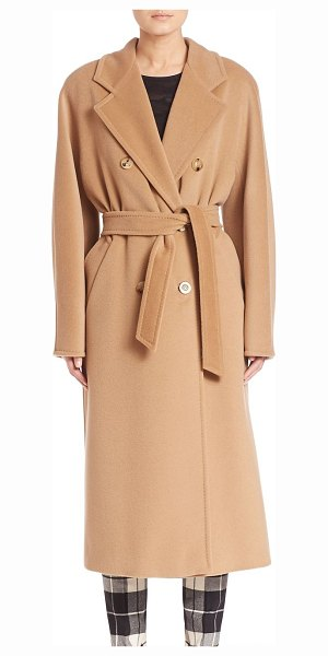 Max Mara 3madame db beaver coat in camel - From the Saks IT LIST. STATEMENT OUTERWEAR. From sleek...