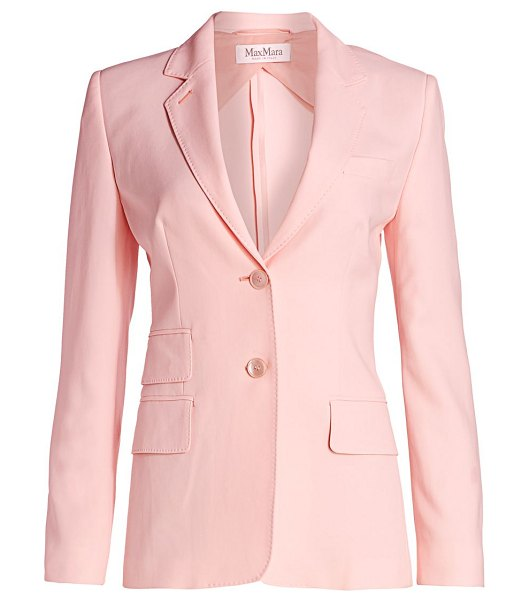 Max Mara adele two-button crepe blazer in pink