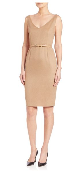 Max Mara Alarico belted camelhair sheath in camel - Soft camel hair elevates this classic...