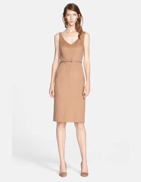 Max Mara alarico camel hair sheath dress in camel - A classically tailored sheath dress is made instantly...