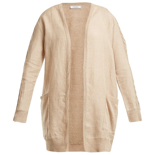 MAX MARA Aligi cardigan in beige - Max Mara's Aligi cardigan is a versatile piece that can...