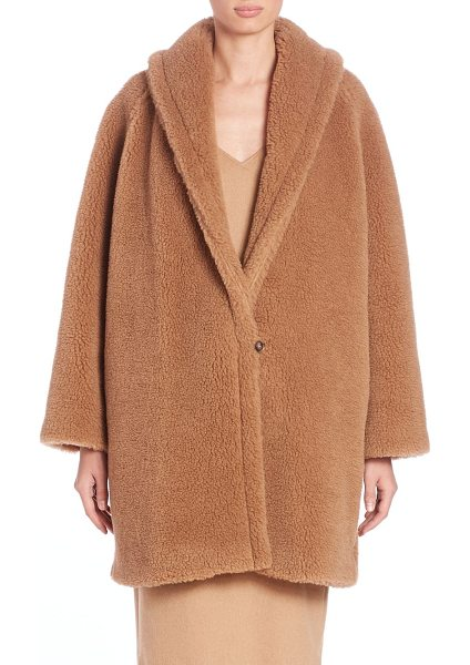MAX MARA Armenia faux fur teddy coat - A sculptural silhouette in plush faux furShawl...