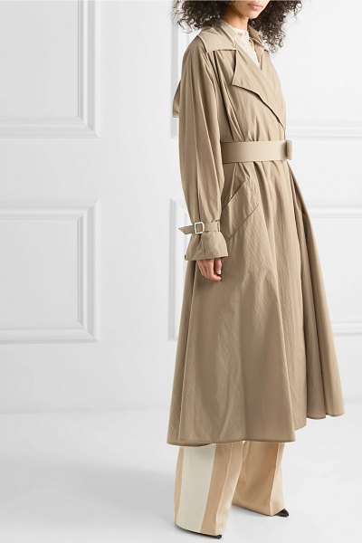 Max Mara belted shell trench coat in brown