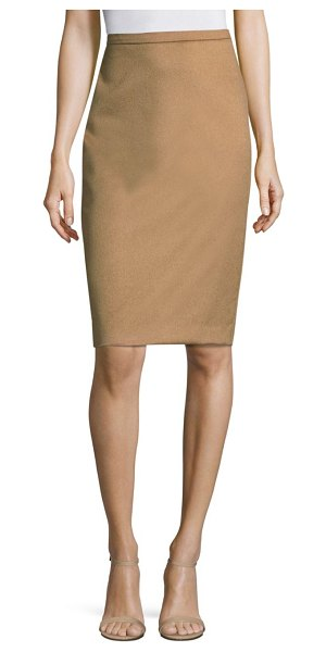 MAX MARA bill camel hair skirt - Fitted pencil skirt crafted in luxe camel hair....