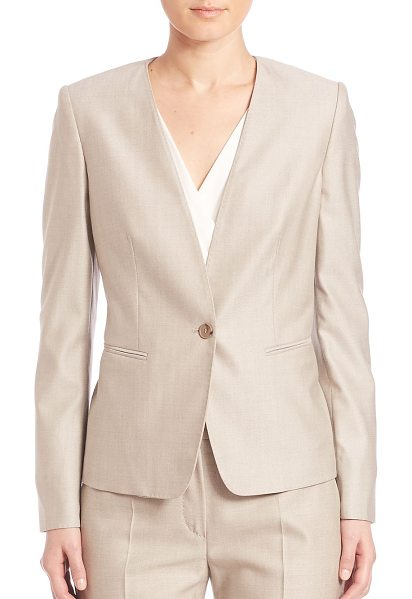 MAX MARA colonia tailored wool blend jacket - Sleek and modern jacket, with minimalist tailoring....