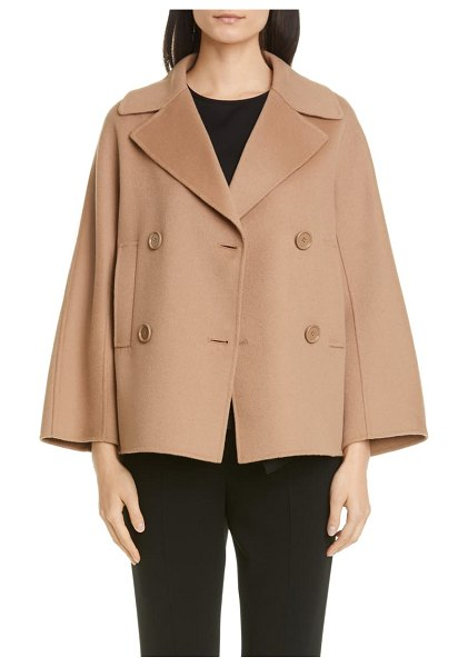 Max Mara connie double breasted wool coat in brown