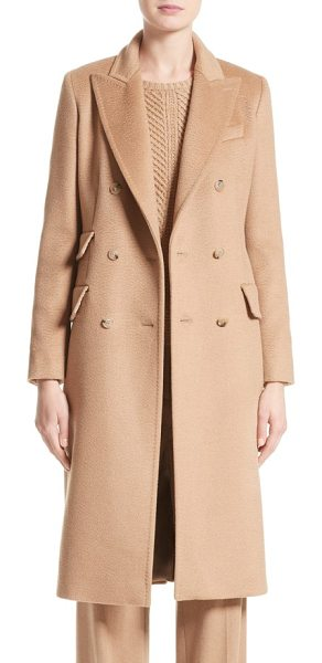 Max Mara derris camel hair coat in camel - Max Mara continues its legacy of timeless outerwear with...