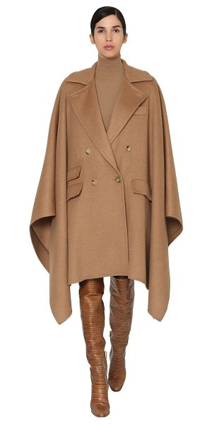 Max Mara Eureka double breasted camel cape in camel
