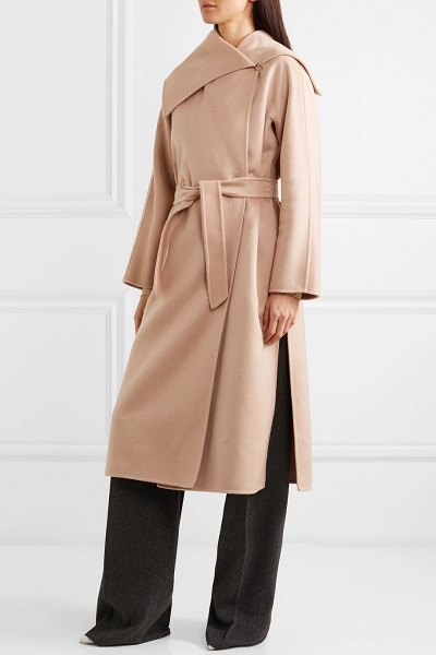Max Mara gail belted cashmere coat in pastel pink