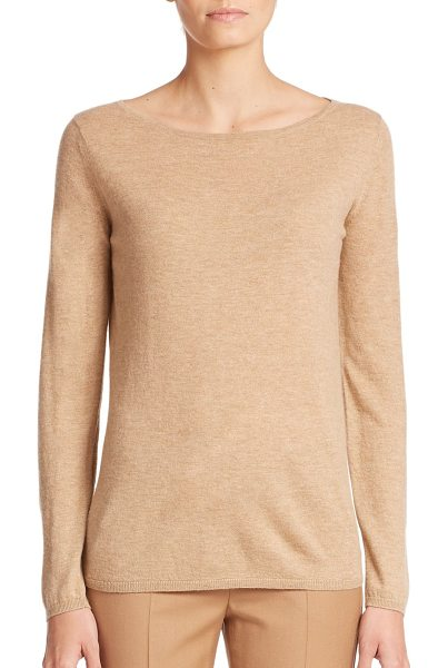 Max Mara Genero cashmere sweater in camel - This classic wardrobe staple rendered in plush cashmere...