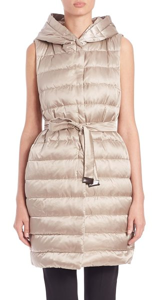 MAX MARA Cube collection gileta hooded puffer vest - From the Cube collectionLustrous puffer vest with...