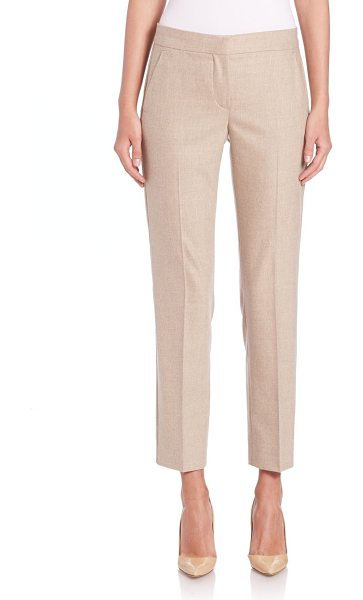 Max Mara Ketty flannel pants in beige - Expert Italian craftsmanship defines the tailored...