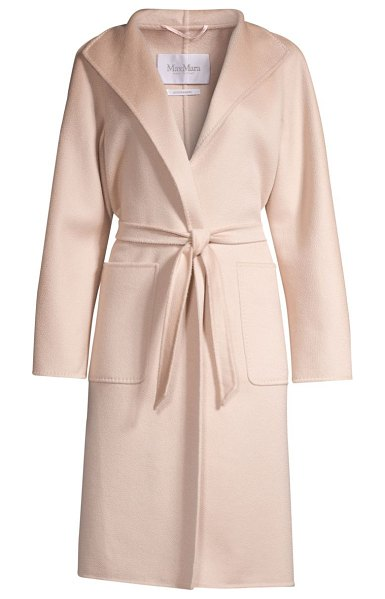 Max Mara lilia cashmere belted wrap coat in pink