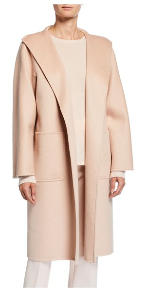 Max Mara Lilia Cashmere Open-Front Coat in pink