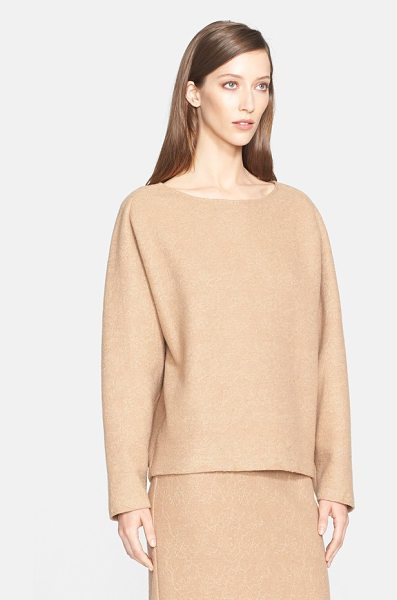 MAX MARA liriche lace trim wool blend sweater - A tonal floral-lace overlay enriches the look and feel...