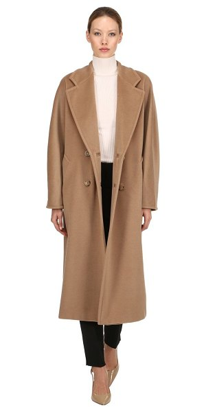 Max Mara Madame double breasted wool long coat in camel