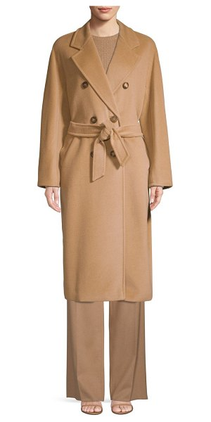 Max Mara madame wool & cashmere double breasted jacket in camel