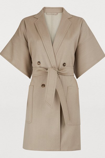 Max Mara Malta Wool coat in beige