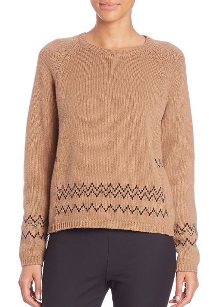 Max Mara Mana fairisle sweater in camel
