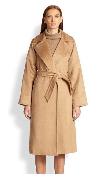 MAX MARA manuel camel hair wrap coat - Touchably soft brushed camel hair makes this cozy wrap...