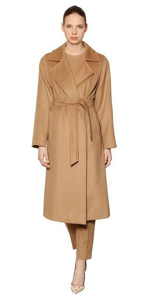 Max Mara Manuela camel long coat in camel
