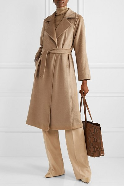 Max Mara manuela icon belted camel hair coat in camel