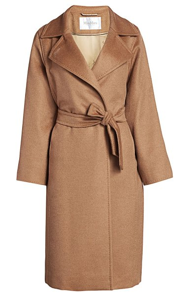 Max Mara manuela icon camel hair wool wrap coat in camel