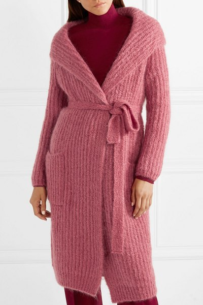 cca74de34a74 Max Mara mohair-blend cardigan in pink - Max Mara s sumptuous knits are  just as