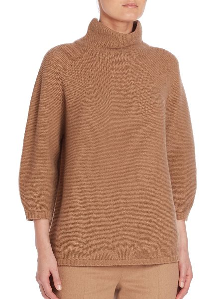 MAX MARA ovale short mock neck sweater - Classic solid sweater crafted from plush wool....