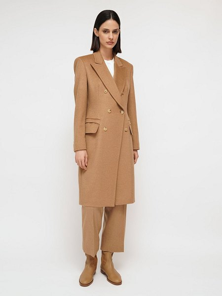 Max Mara Patrik double breasted camel coat in camel