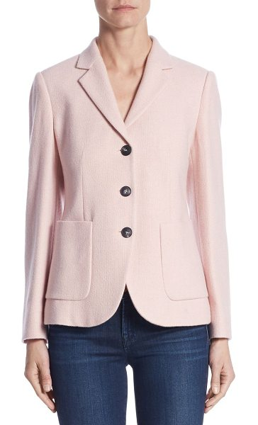 Max Mara pola cashmere jacket in pink - Italian cashmere updates classically tailored jacket....
