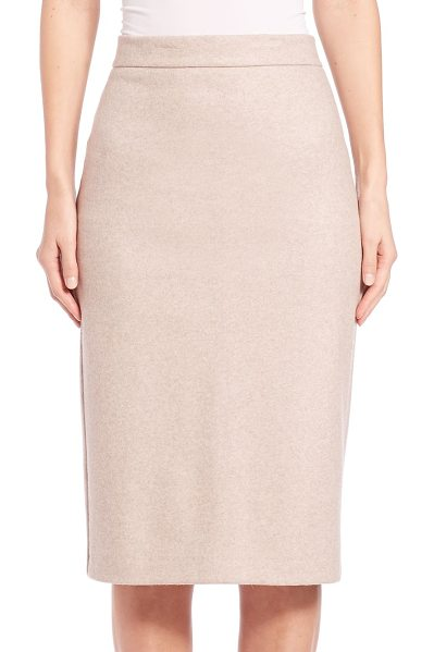 Max Mara Rada pencil skirt in beige - Timeless silhouette in Italian stretch fabricBanded...