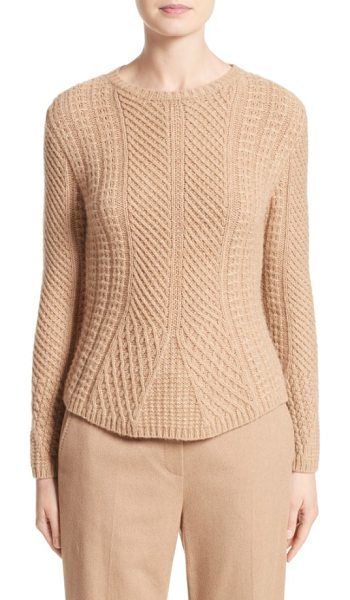 MAX MARA ronco sweater - Mixed stitching and cable braiding enhance the...