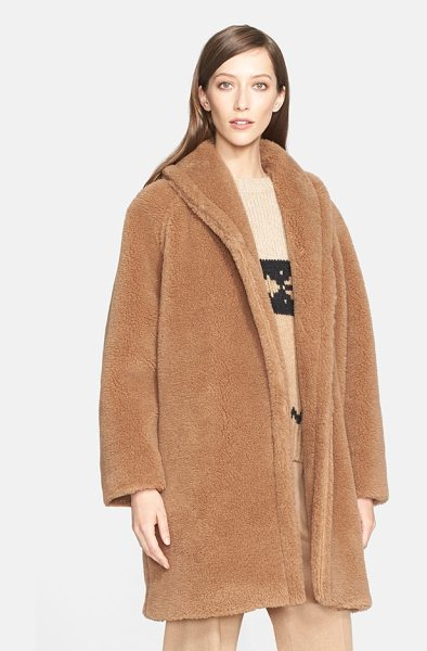 Max Mara teddy bear faux fur coat in camel - Named for its plush texture, this shawl-collar teddy...